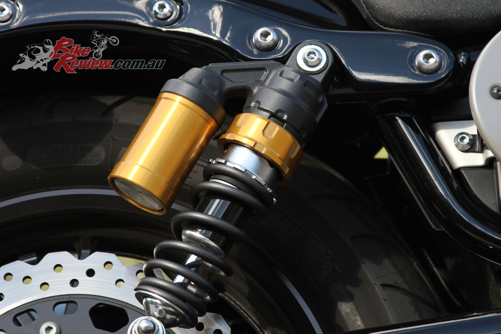 Bolt R spec rear shocks with reservoirs are an upgrade over the standard Bolt's items