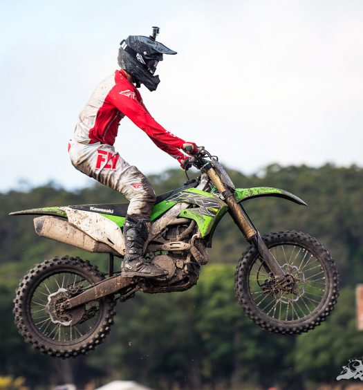 Guy Streeter attends the 2019 Kawasaki KX450 Launch for BikeReview.com.au