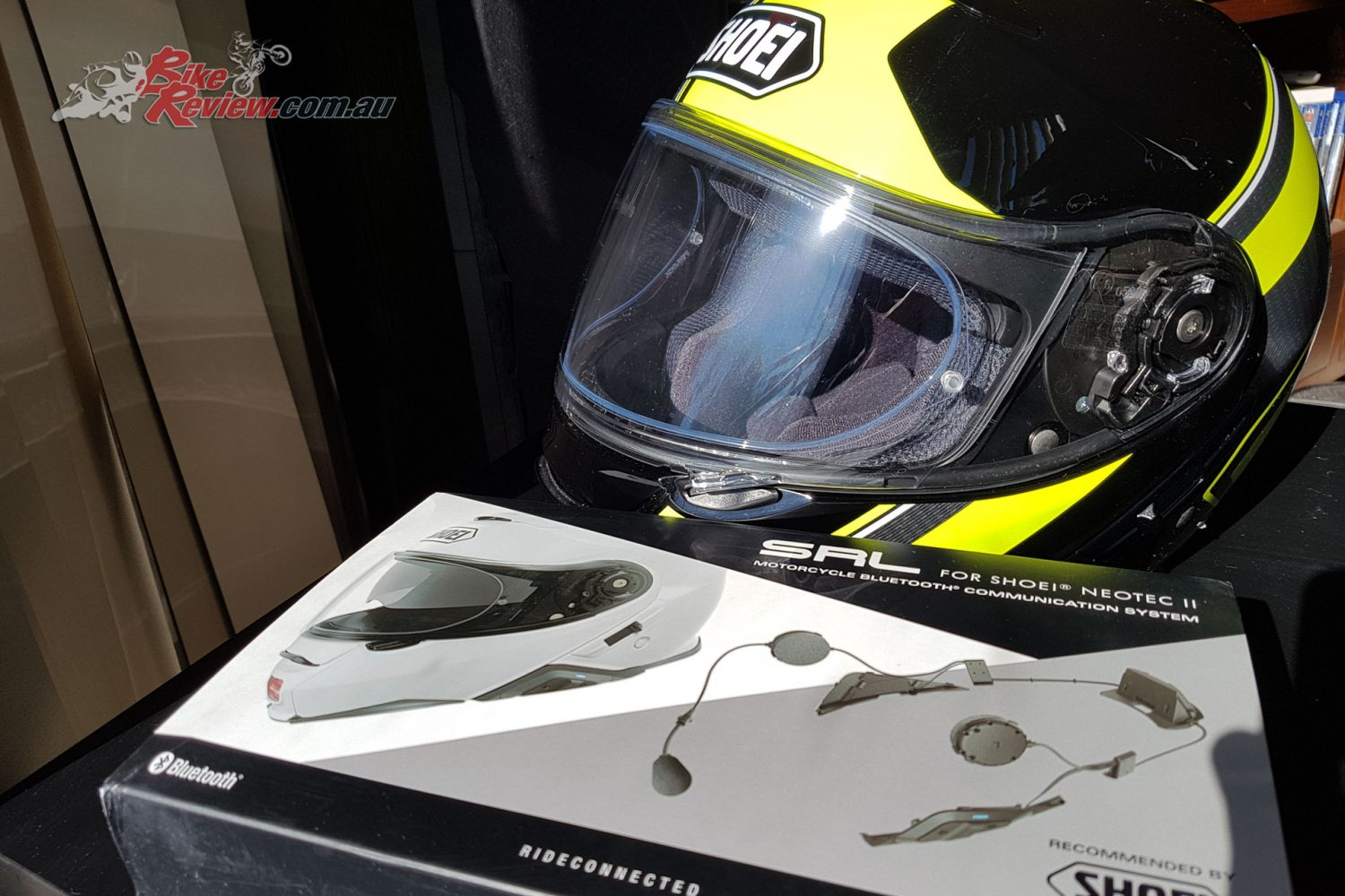 Sena SRL Communication System arrives to join Kris's Shoei Neotec II helmet