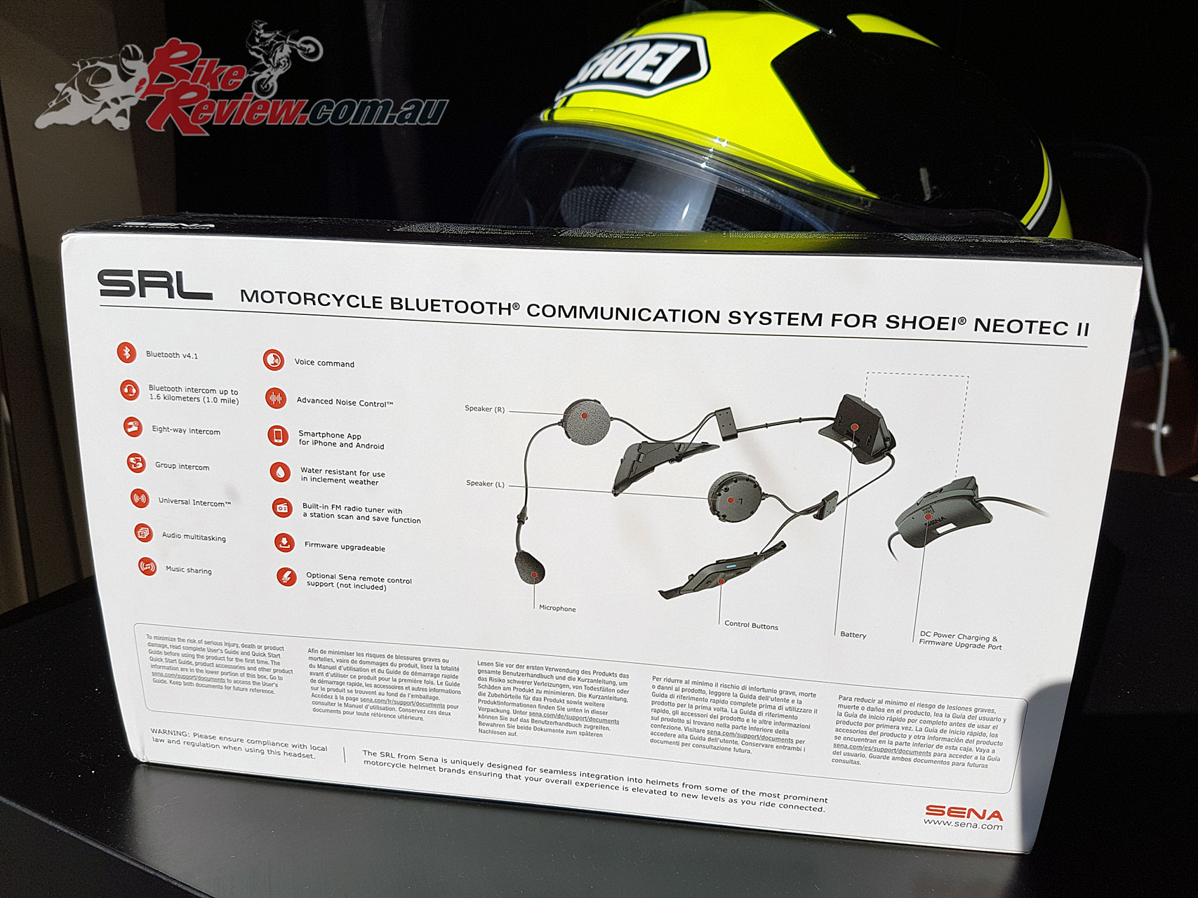 The Sena SRL is designed specifically for the Shoei Neotec II