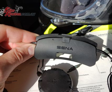 Sena SRL Comms System for the Shoei Neotec II