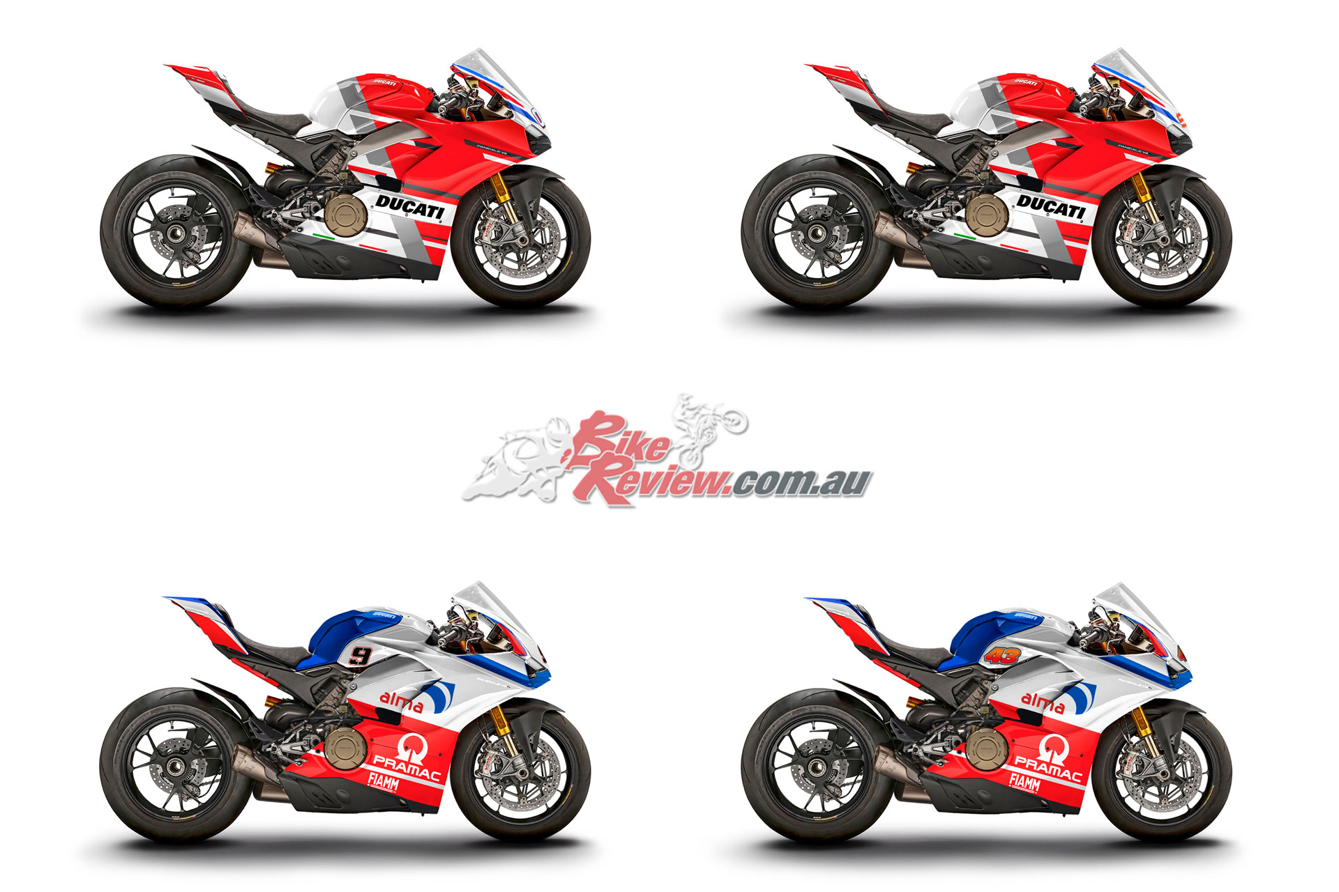 13 wdw race of champions panigale v4s to be auctioned bike review. Black Bedroom Furniture Sets. Home Design Ideas