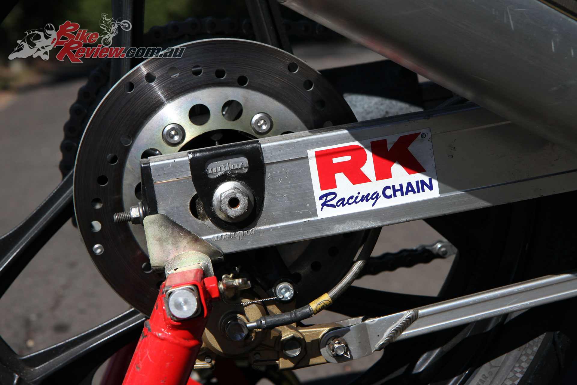 New brake rotors were sourced through Wemoto