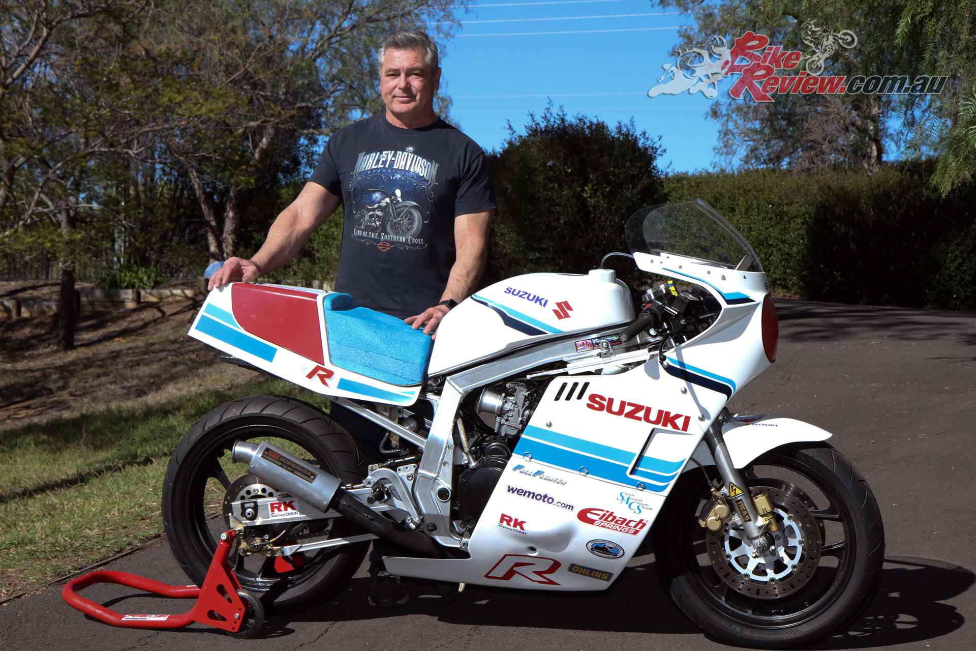 Paul with his 1987 Suzuki GSX-R1100 Classic Racer