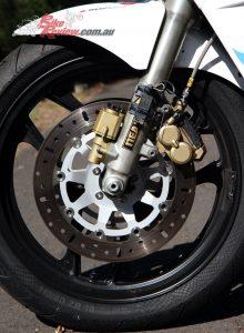 New brake rotors were sourced through Wemoto