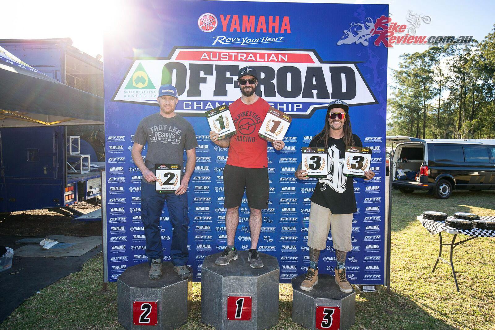 125cc Amateur Cup Podium - AORC 2018 Round 6