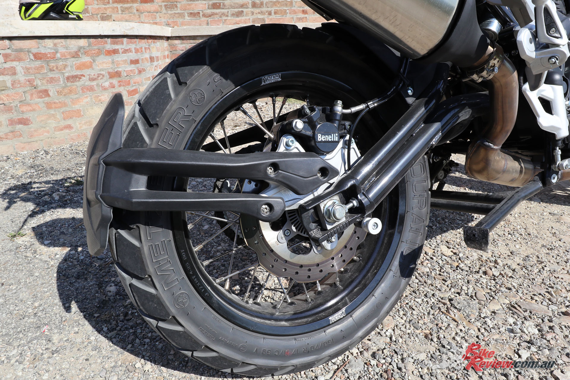 A fully adjustable rear shock, with 50mm stroke for 170mm rear travel joins the revised forks, in offering a balanced and predictable ride. The wheelbase is also reduced to 1505mm.
