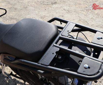 2018 Benelli TRK 502X - Rear rack ready for a topbox, while Givi will be producing panniers for Benelli