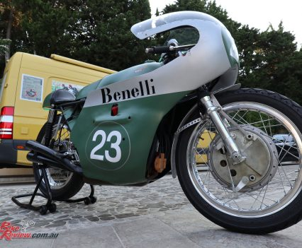 2018 Benelli TRK 502X Launch - One of Luciano Battisti's Benelli racer collection