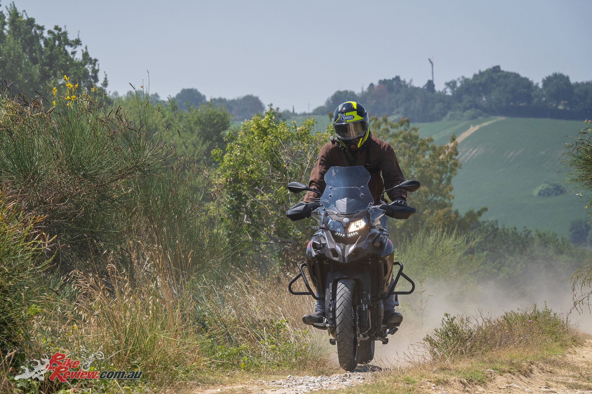 The TRK 502X isn't really presented as a full adventure tourer, instead offering a 'light' adventure experience, with strong touring and commuting abilities.