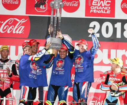 F.C.C. TSR Honda France & Josh Hook win the EWC championship
