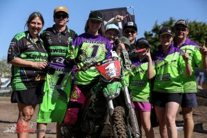 Meghan Rutledge wins the Women's MX Nationals Title in 2018