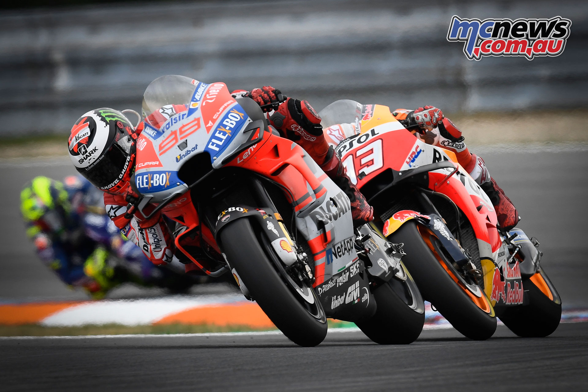 Lorenzo and Marquez battling it out