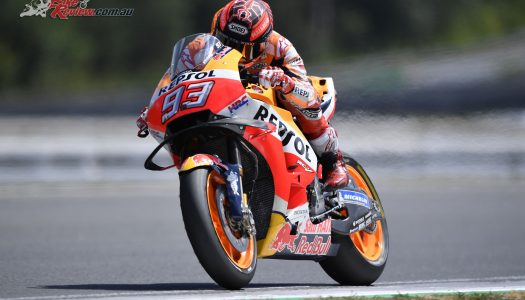 Marquez tops post-round Brno test