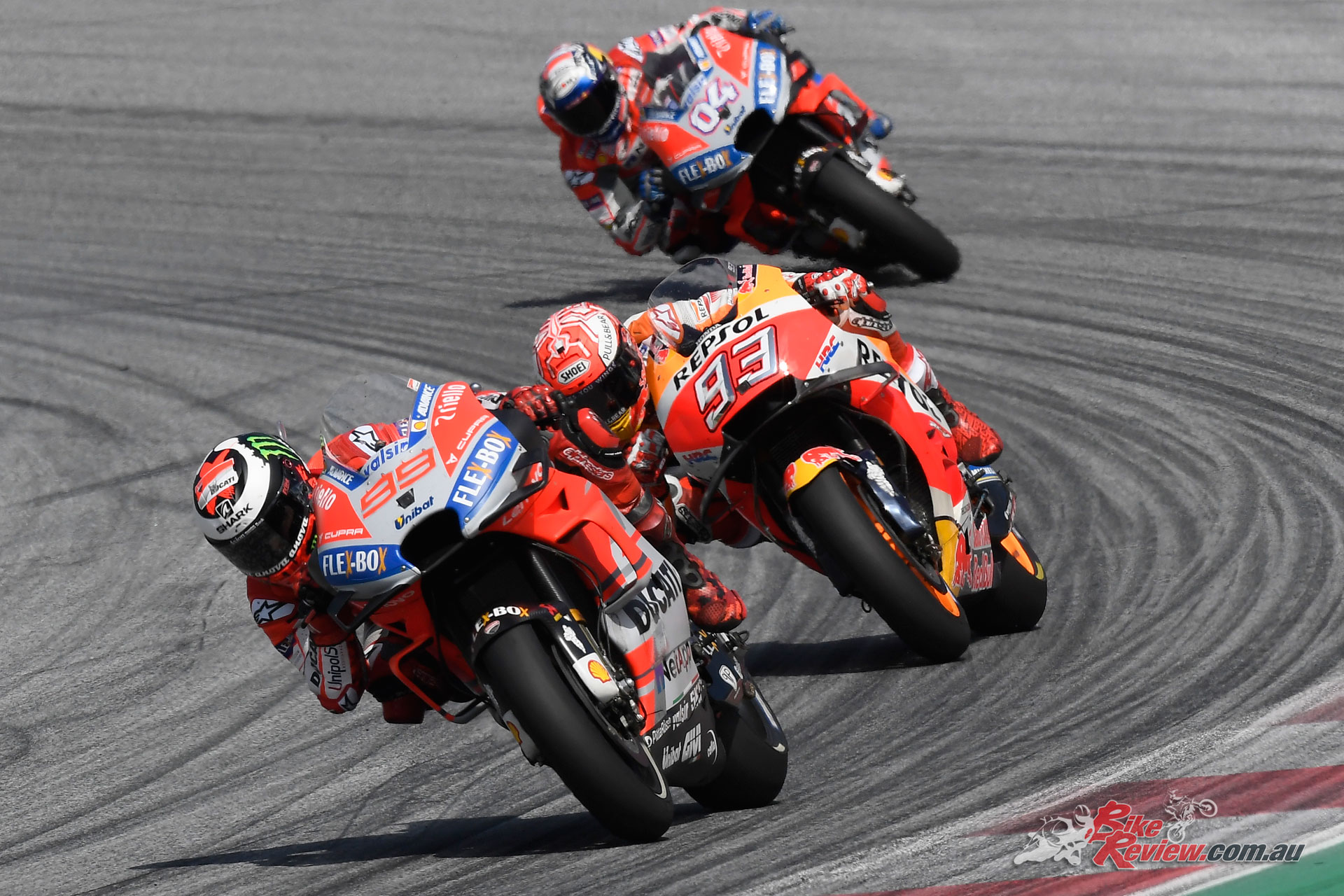 Lorenzo held off Marquez for the win