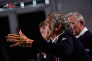 FIM Grand Prix Safety Officer Franco Uncini in a special Press Conference called following the cancellations