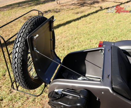 Ural Ranger - Rear storage, with spare wheel and rack
