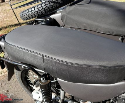 Ural Ranger - Single-piece seat for two plus the sidecar allows for the transport of three, or plentiful luggage capacity