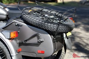 Ural Ranger - Spare wheel and shovel offer a hint at how serious the brand is about being a do-all three-wheeler