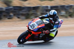 Race 1 Superbike winner Ben Stronach
