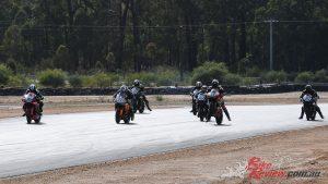 Superbikes at WA State Road Racing Championship Round 2