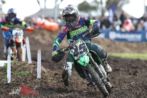 Brad West put in a strong showing in the 85cc category
