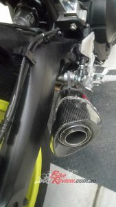 Here you can see the muffler mounting bracket.