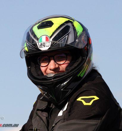 Sam's new AGV K-3 SV helmet