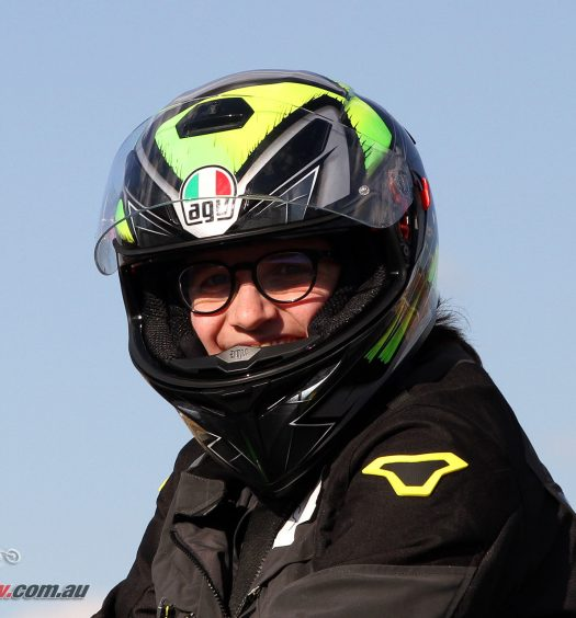 Sam's new AGV K-3 SV helmet