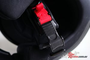 The ratchet strap is a cool piece of technology, but you do need to be careful how it is adjusted.
