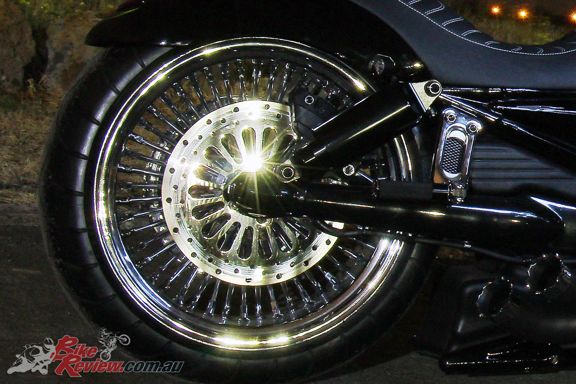 Big Daddy Fat Spoke wheels in 3.50 x 26in front and 8.50 x 18in