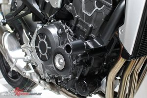 Axle Oggys and Oggy Knobbs are now available for Honda's CB1000R
