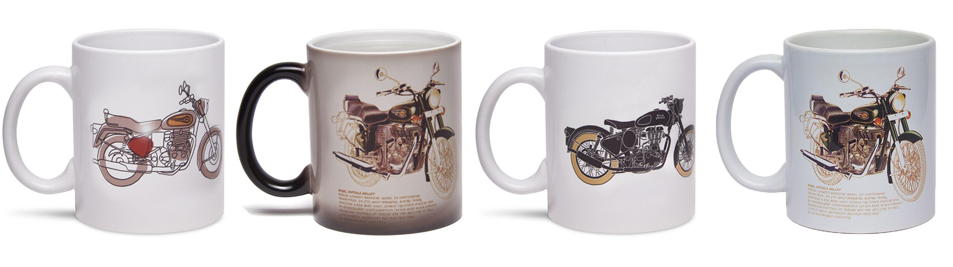 Royal Enfield have a great range of mugs and other apparel available.