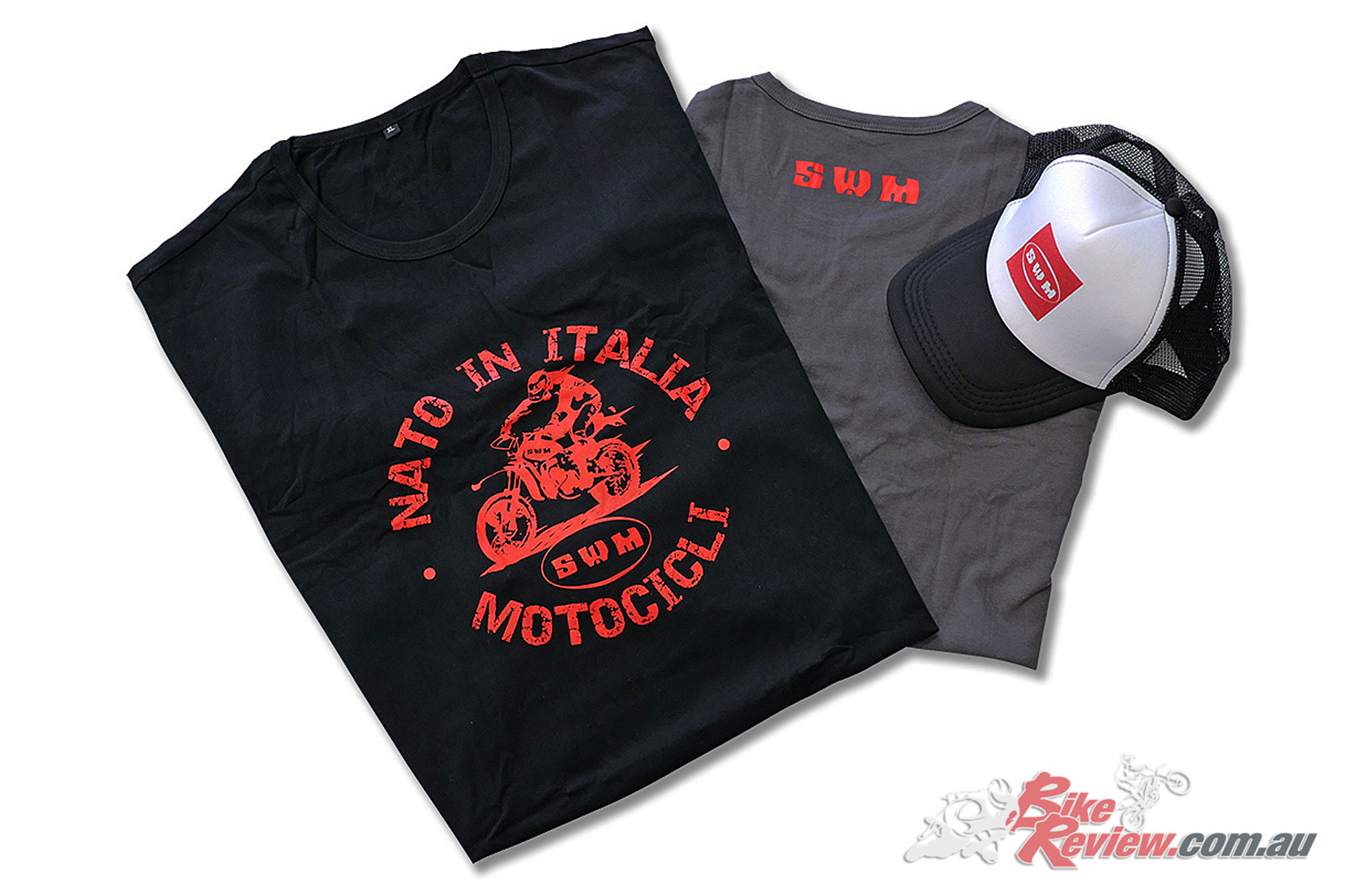 SWM Motorcycles: Retro Trucker Cap & 'Born in Italy' Retro T-Shirt