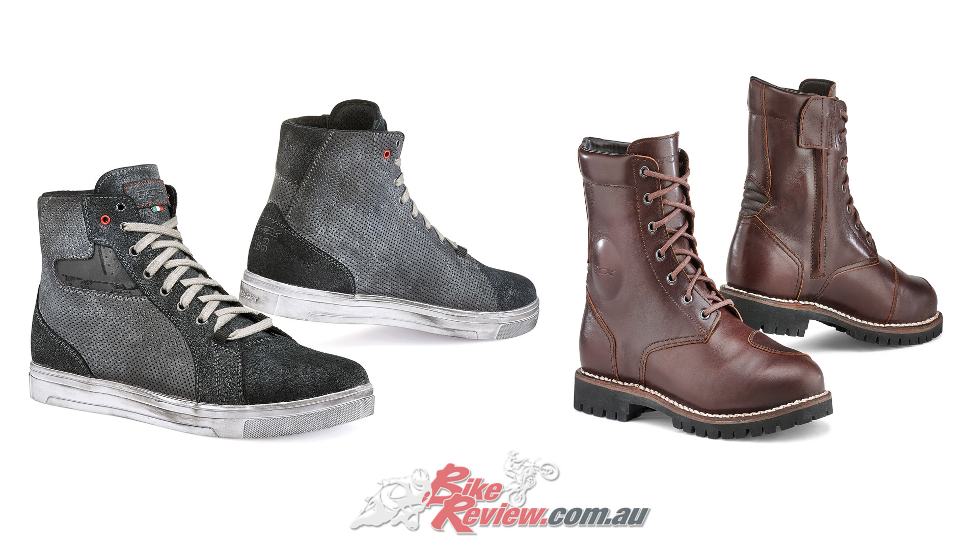 TCX Street Ace Air 'Sneakers' & Hero Waterproof Boots