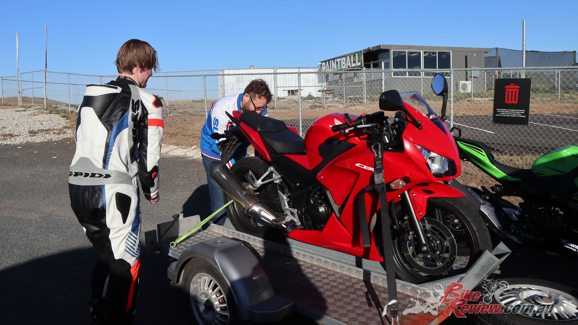 Jack's weapon of choice is the Honda CBR300R