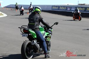 The Ninja 400 offers a nice low seat height for most riders
