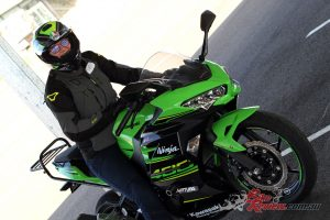 Samantha had a great time on the Ninja 400 at the Top Rider Level 1 Course
