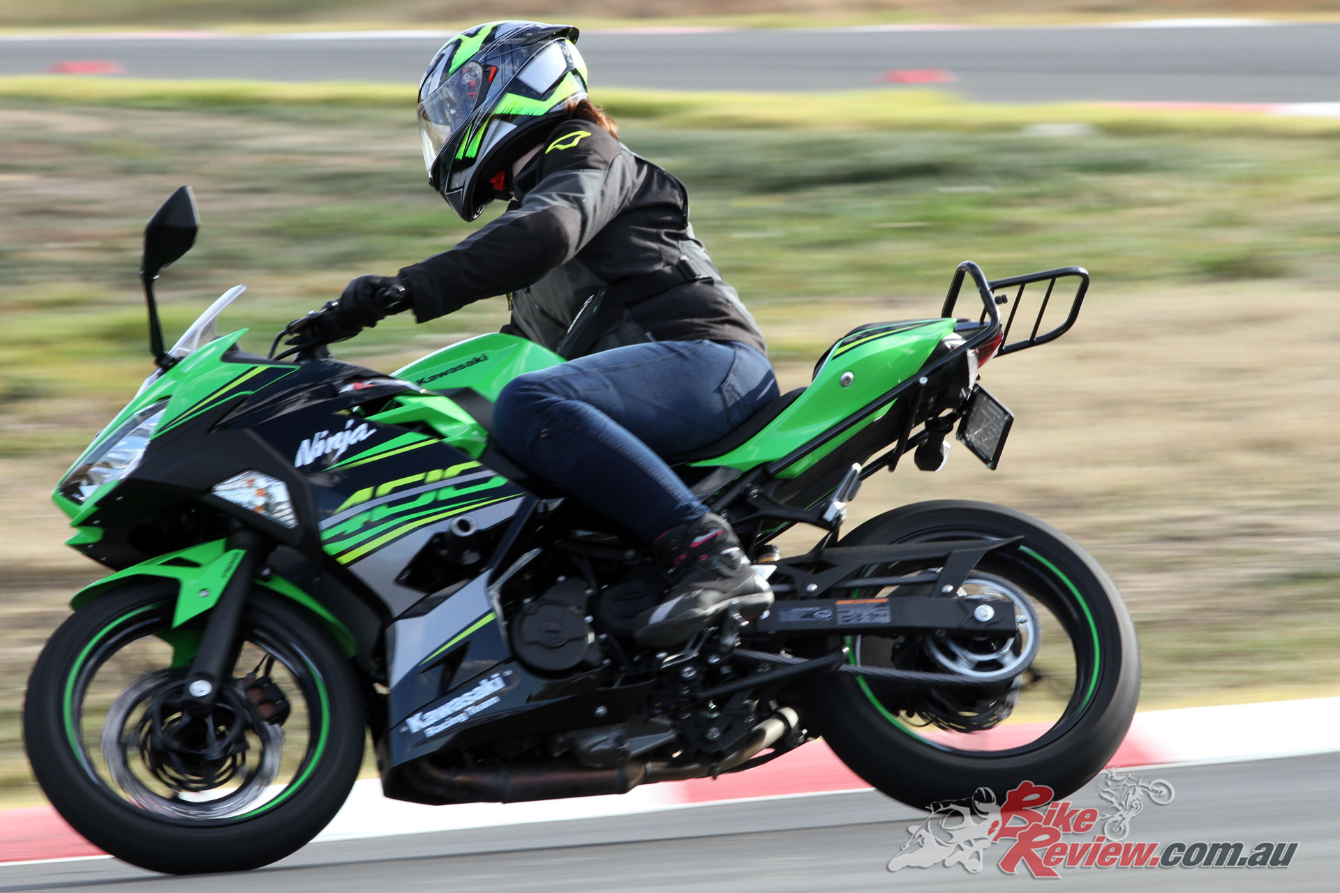 Samantha on our Long Term Ninja 400