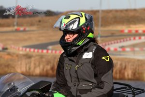 The AGV K-3 SV got some extensive use with a full day riding at the Top Rider Level 1 course
