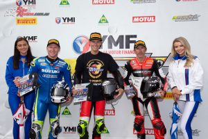 Troy Herfoss tops the podium and takes the title - Image by TBGSport
