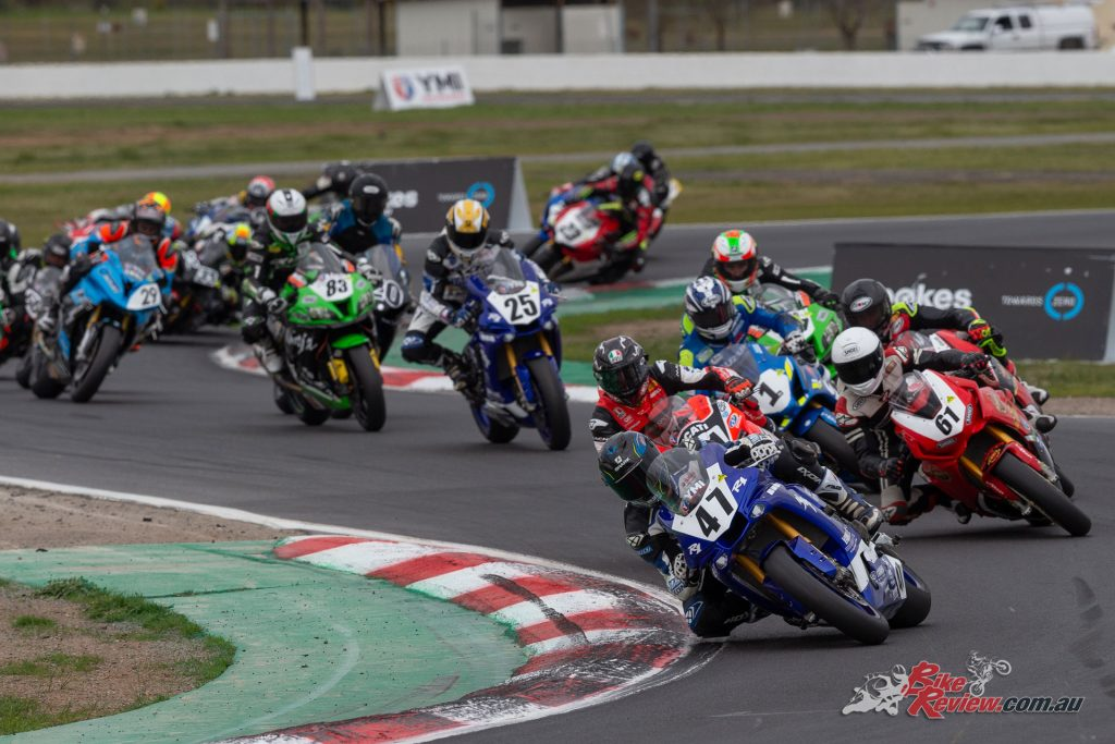 Wayne Maxwell in the lead in Race 2 - Image by TBGSport