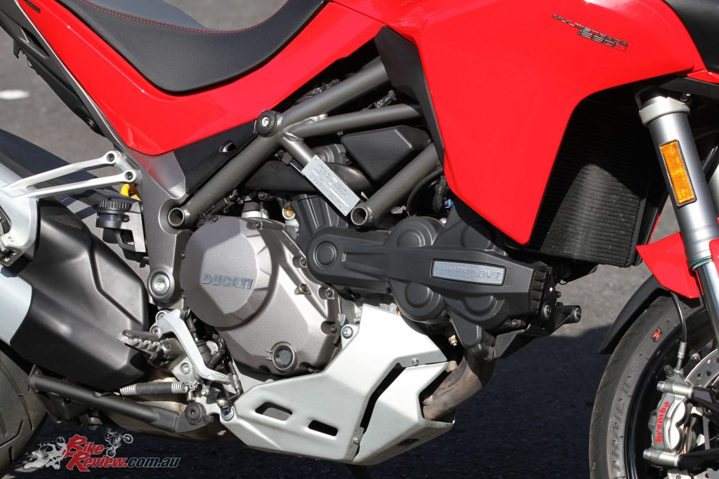 Ducati researched where in the rev range most Multistrada riders tend to ride in and made improvements in that range.