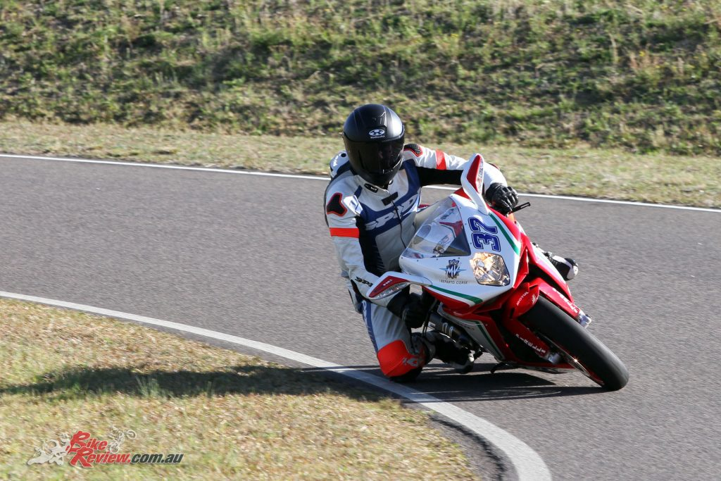 The F3 675 RC offers up a true racebike experience to the ride and is for experienced riders only...