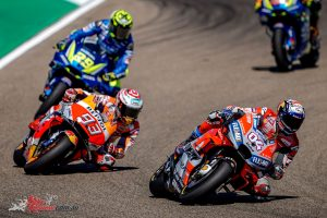 Marquez, Dovizioso and Iannone battle it out at Aragon