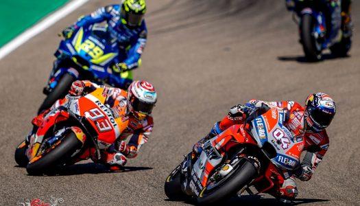 Marquez vs Dovizioso vs Iannone at MotorLand MotoGP