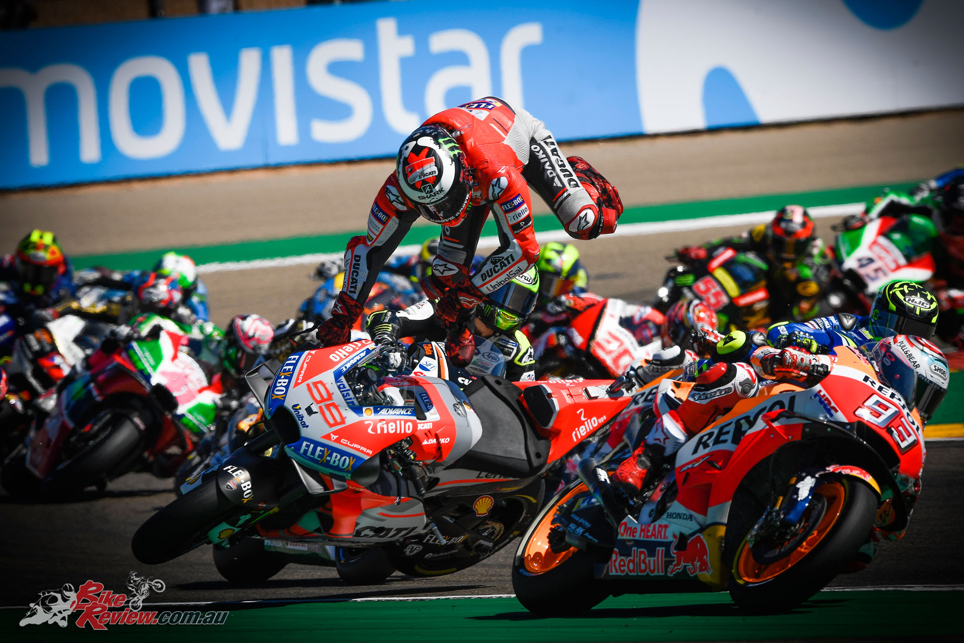 A first corner crash ruled Lorenzo out of contention