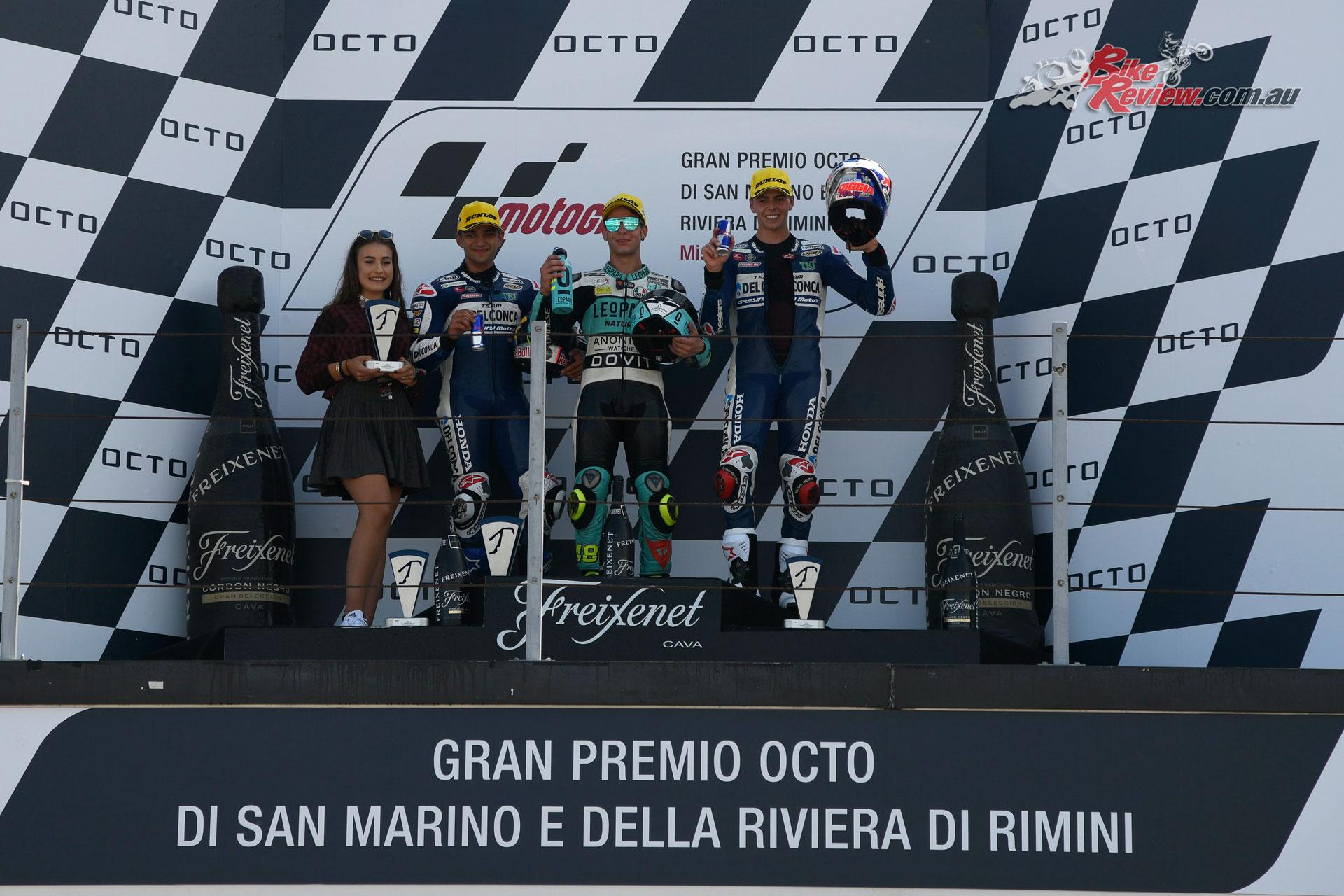 Moto3 Podium - MotoGP 2018 Misano