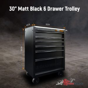 Gearwrench Matt Black Six Drawer Tool Trolley