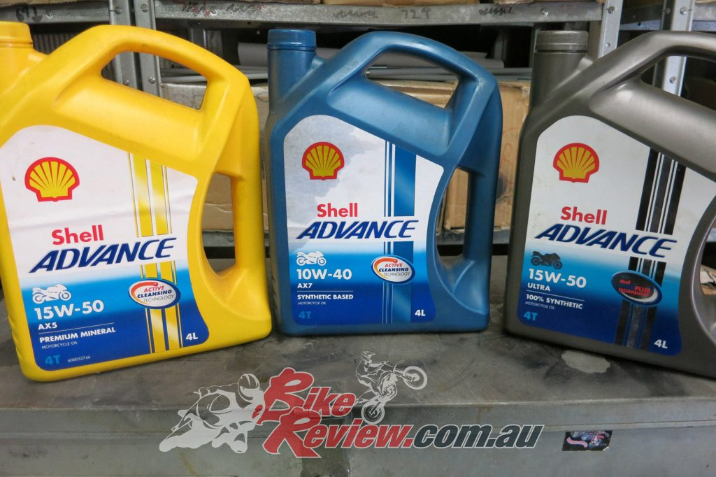 Mineral Shell AX5 for the first 1000km, then Shell synthetic blend AX7 for the next few thousand, then we will switch to full 100% synthetic Ultra. This gives the engine the best chance to bed in perfectly for long term use and a long lasting motor...